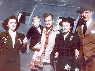 Otto Skorzeny his wife and George Herbert Walker Bush
